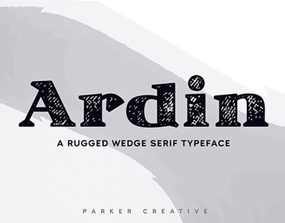 Ardin - Distressed Wedge Serif