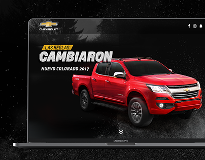 New Colorado, Chevrolet - UI/UX Design