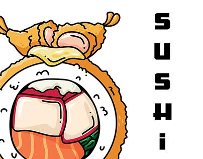 Ilustraciones Sushi Yakuza