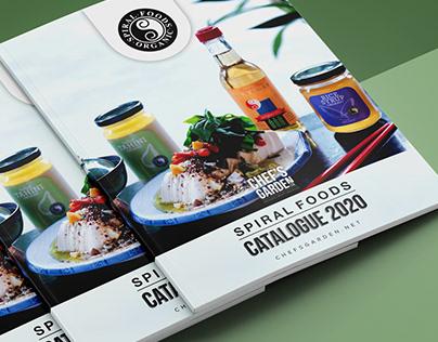 Spiral Food Catalogue Design