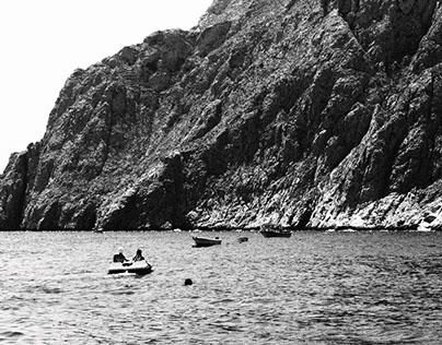 Santorini B&W