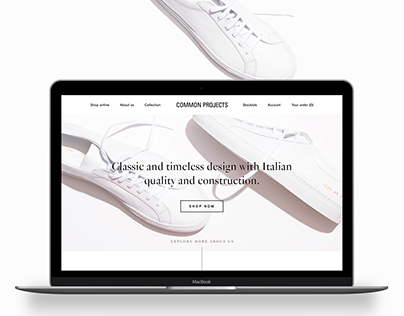 Common Projects E-Commerce (CONCEPT)