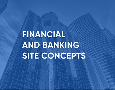 Концепты сайтов для финансовых организаций