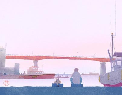 Misaki Port Twilight