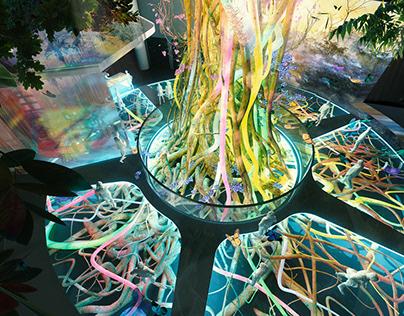 Theme park interior - 3d architectural visualization