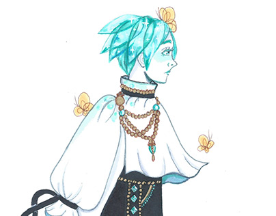 Land of the Lustrous Fashion Stickers