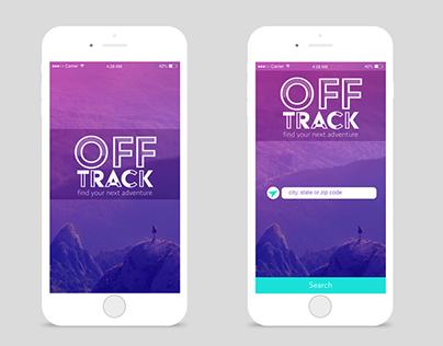Off Track App Design