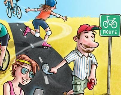 Bike path popularity