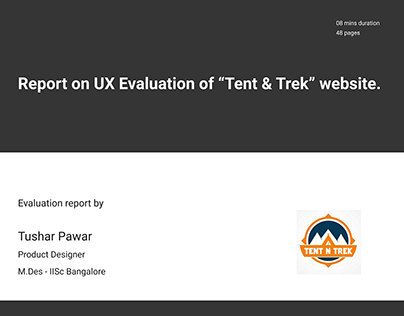 "UX Evaluation of ""Tent & Trek"""