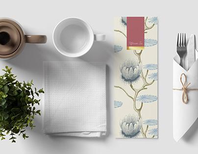 Menu Design - Afternoon Tea at Ferrycarrig Hotel
