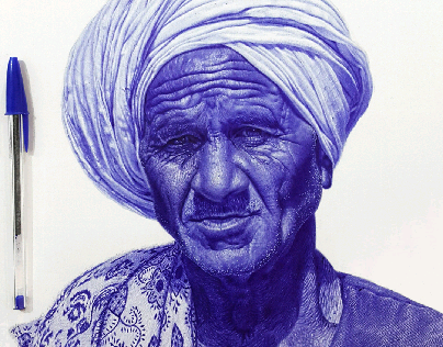 Egyptian farmer Ballpoint pen