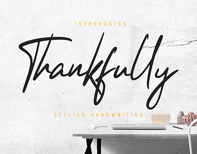 Free Thankfully Handwriten Font