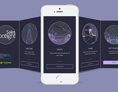Sales Spotlight App Welcome Screens v1 | Vendini