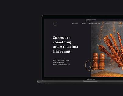 Chicco - restaurant website template design