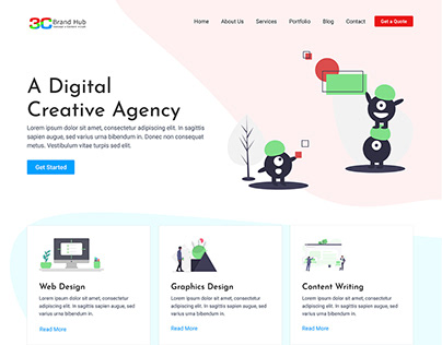 3C Brand Hub - Website UI
