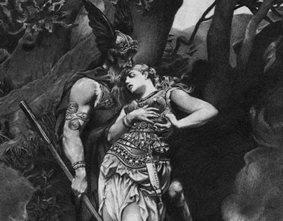 Desenho Odin and Brunhilde