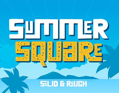 Summer Square | summer display Font