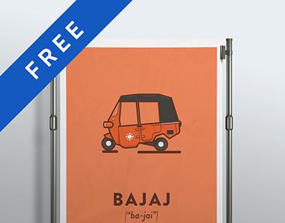 BAJAJ. Free Vector Icon