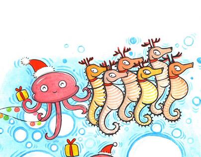 Jellyfish December 2016 - Cover Design & Illustration