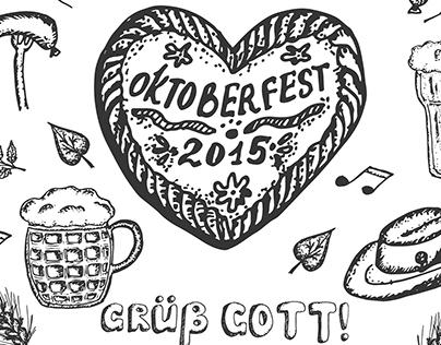 Hand drawn Oktoberfest set