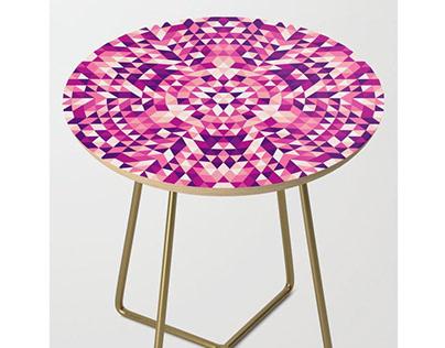 Triangle Mandala Side Table