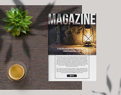 Black and White Magazine Layout