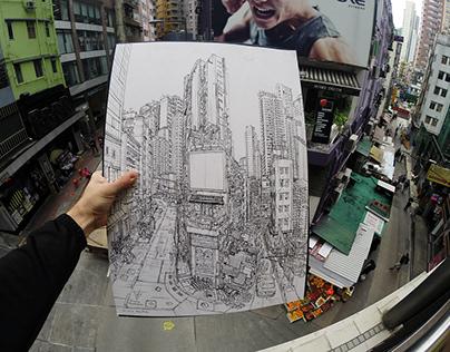 Urban Sketching in Hong Kong