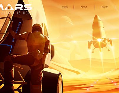 Vector Illustration : Landing