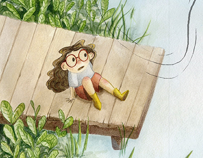 "Children's Book ""A Fly Went By"" Illustrations"