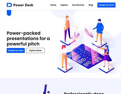 Powerdeck.in Website Design