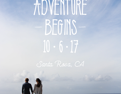 """Save the Date"" layout design"