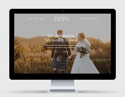 Kilts4All Website Design