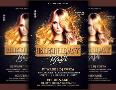 Birthday Bash Party Flyer Template