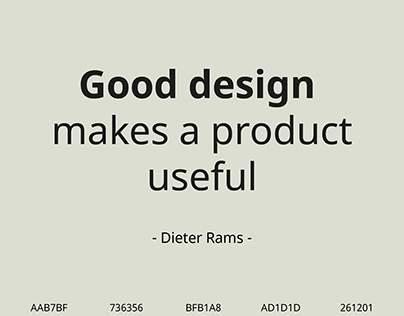 Good design poster inspired by Dieter Rams