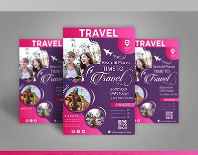 Travel Flyer Design With Mockup