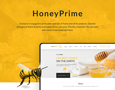 HoneyPrime - bees and honey / company-manufacturer