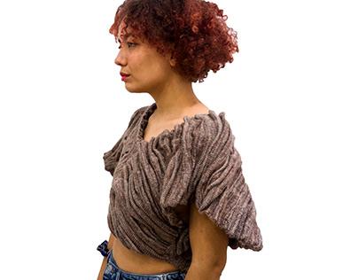 Machine Knitting: Pocket Stones Garment