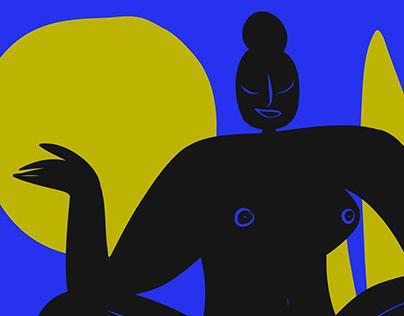 Women's triptych | illustration