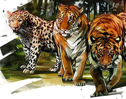 Big cats in subway
