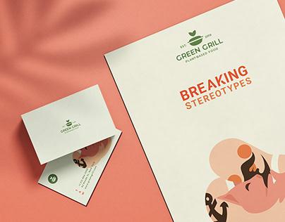 """Branding Design for """"Green Grill"""""""