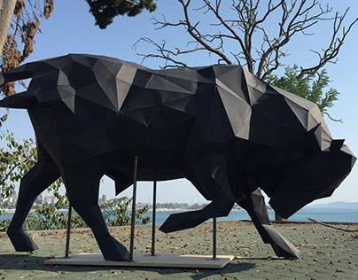 Let's meet Bull Statue
