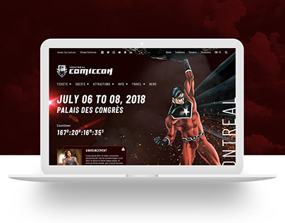 Montreal Comiccon Website Design