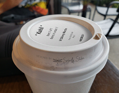 Starbucks Order Label