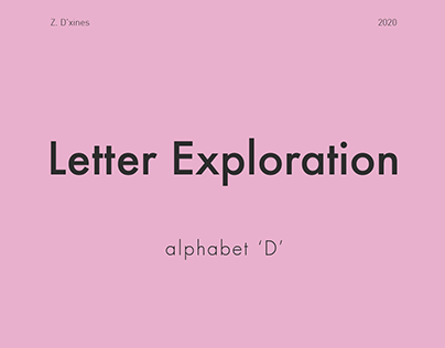 26 Days of Letter Exploration - Day 4