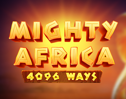 Mighty Africa: 4096 Ways Game Logo
