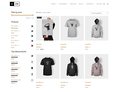 Products Archive - Ink - Blog WordPress Theme