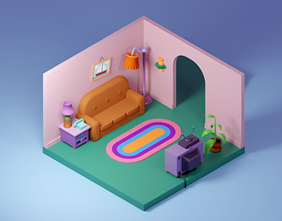 The Simpsons living room