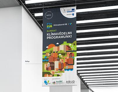 Klímabarát18 - Climate change strategy branding