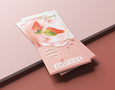trifold brochure for smoothies