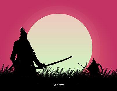 Sekiro Silhouette Art